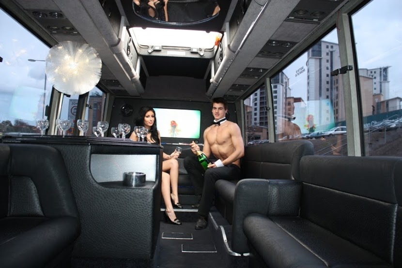 Copy of hen Party Newcastle Limo Bus and Topless Butler (5)