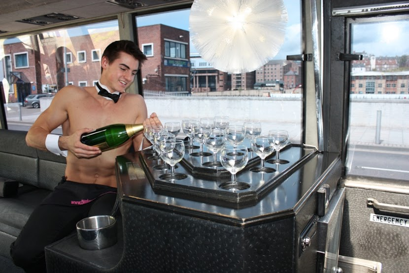 Copy of hen Party Newcastle Limo Bus and Topless Butler (6)