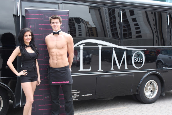 hen Party Newcastle Limo Bus and Topless Butler (1)