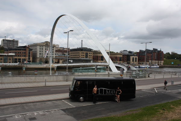 hen Party Newcastle Limo Bus and Topless Butler (2)